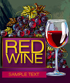 Vector illustration of Tasty Wine, all elements are in separate layers and grouped. This is eps 10 file. please visit my portfolio for more options