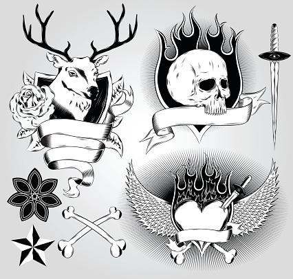 Tatoo design elements