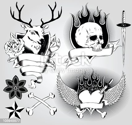 istock Tatoo design elements 105945577
