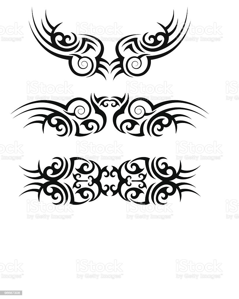 Tattoo Arm Band Set royalty-free stock vector art