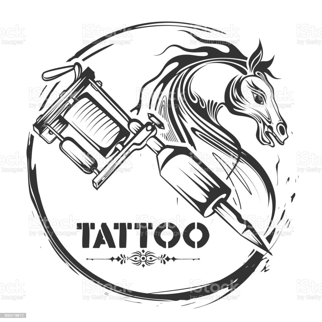Tattoo Art Design Of Horse Line Art Style Stock Illustration Download Image Now Istock
