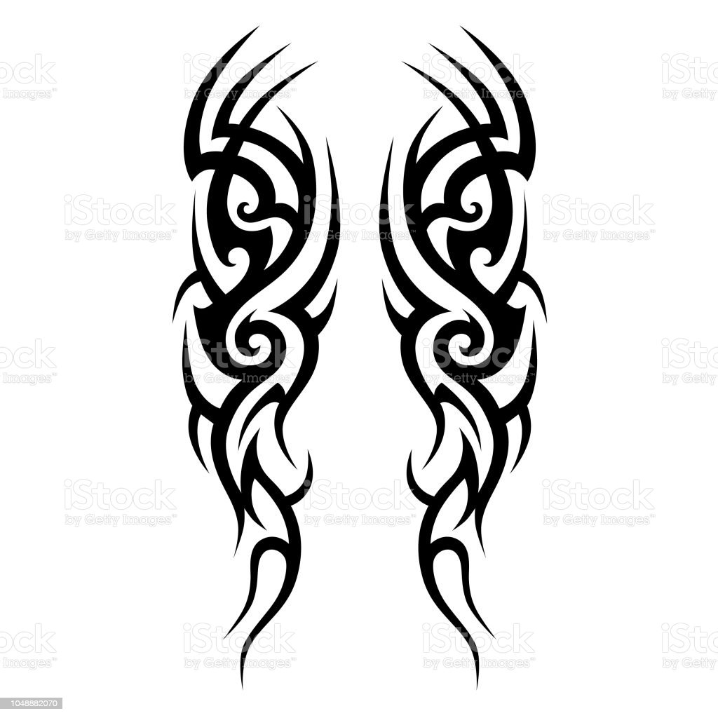 Tattoo Art Tribal Vector Designs Sketch Simple Abstract Black