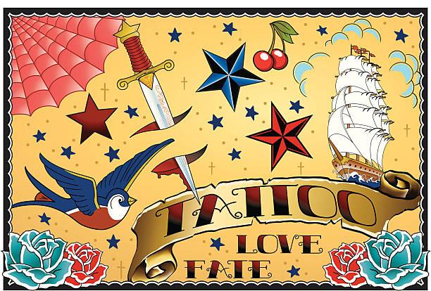 タトゥーアート - 星のタトゥー点のイラスト素材/クリップアート素材/マンガ素材/アイコン素材