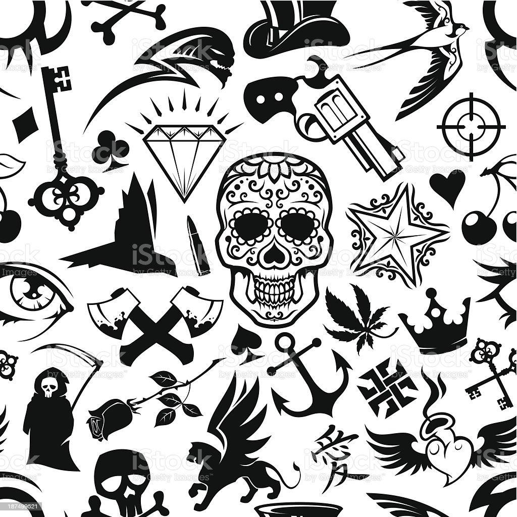 tattoo background vector art illustration