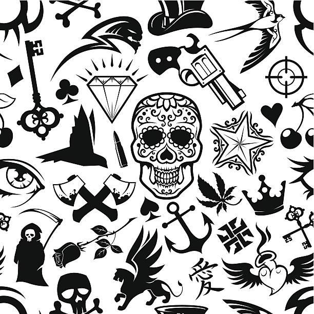 Tatuaje de fondo - ilustración de arte vectorial