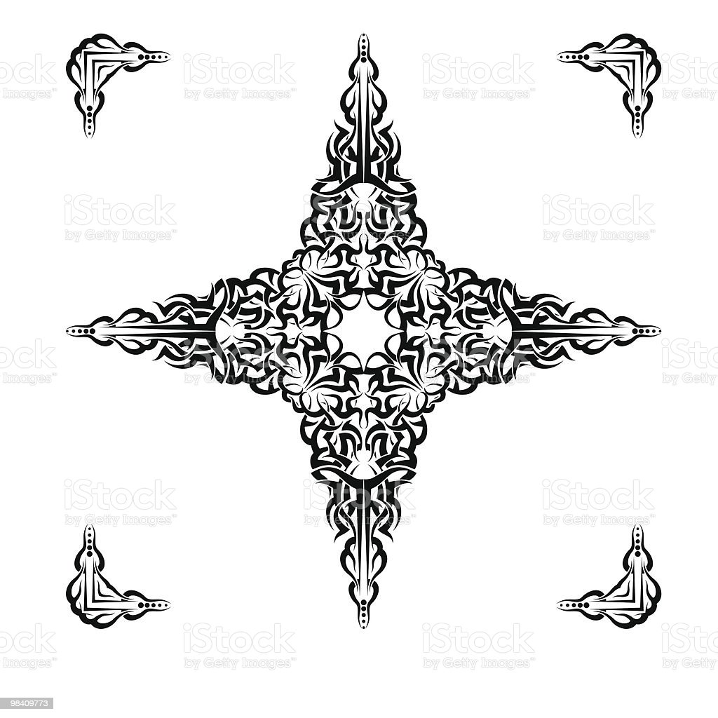 Tattoo Cross, frame royalty-free tattoo cross frame stock vector art & more images of black color