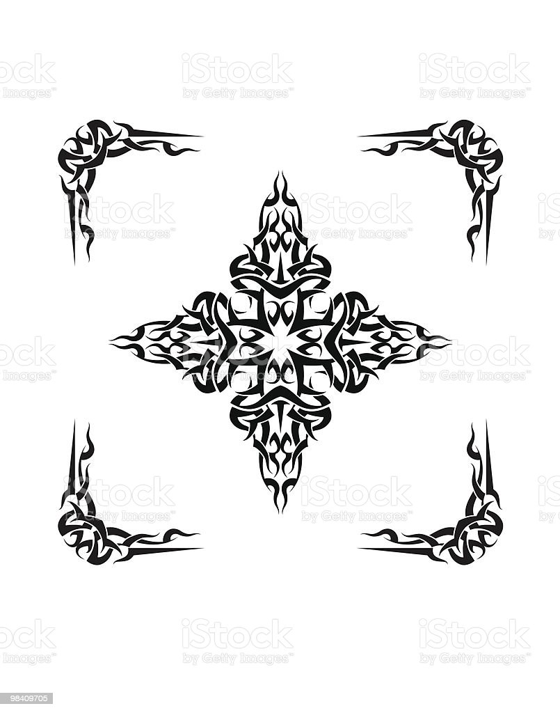 Tattoo Cross royalty-free tattoo cross stock vector art & more images of abstract