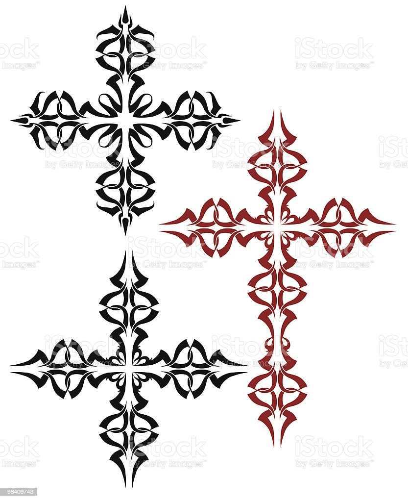 Tattoo Cross royalty-free tattoo cross stock vector art & more images of black color