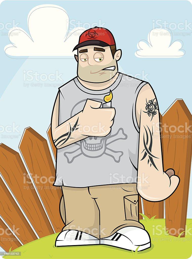 Tattoo Dave vector art illustration