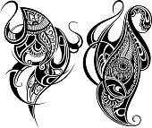 Tattoo design elements