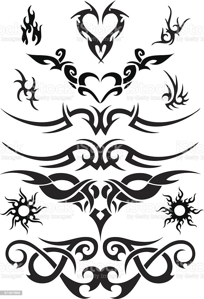 tattoo designs royalty-free stock vector art