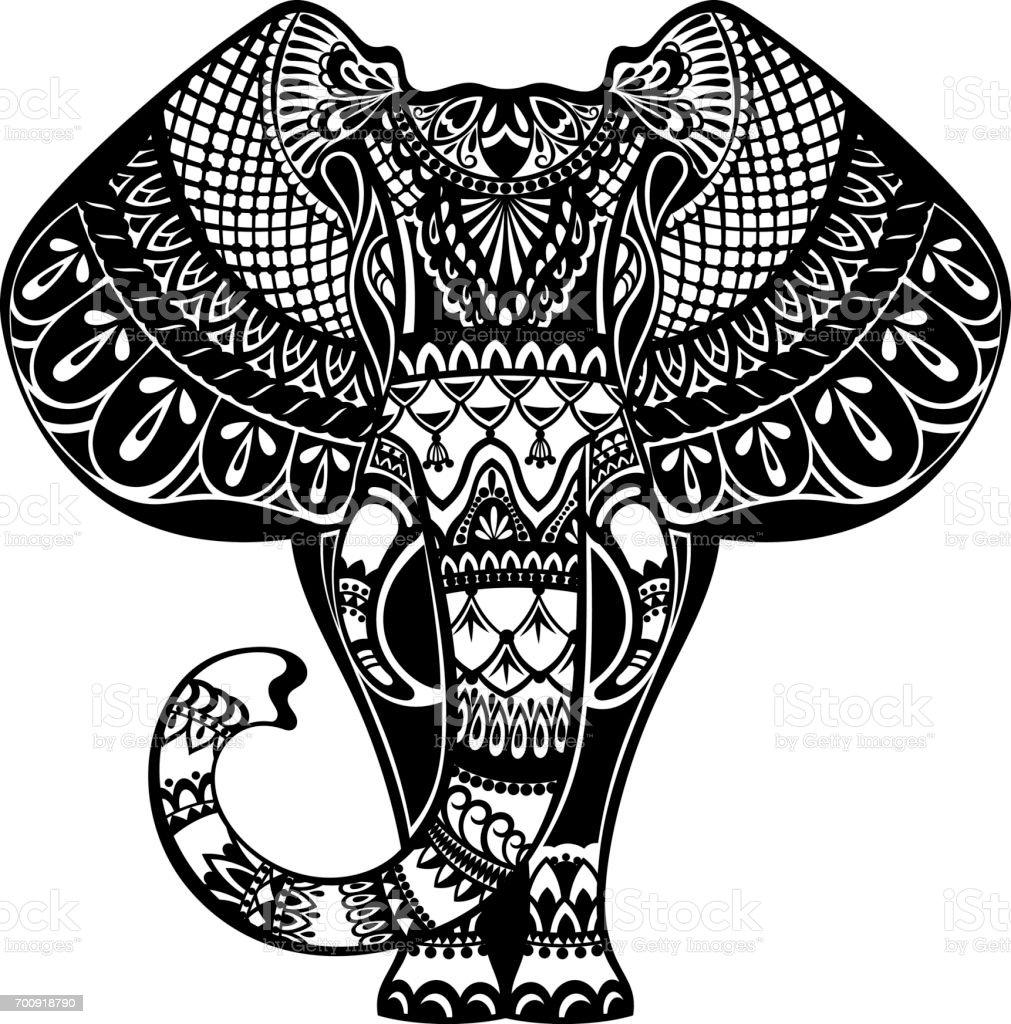 Tattoo Elefant Stock Vektor Art und mehr Bilder von Elefant   iStock
