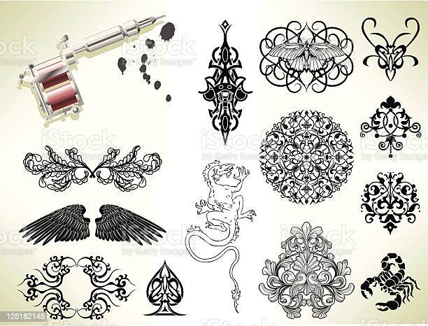 Tattoo flash design elements vector id125182145?b=1&k=6&m=125182145&s=612x612&h=vpmsyvpu3xigdiwtlffesvsnxbu4t 9fdd3tuzqq9gi=