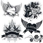 Tattoo Grunge Elements