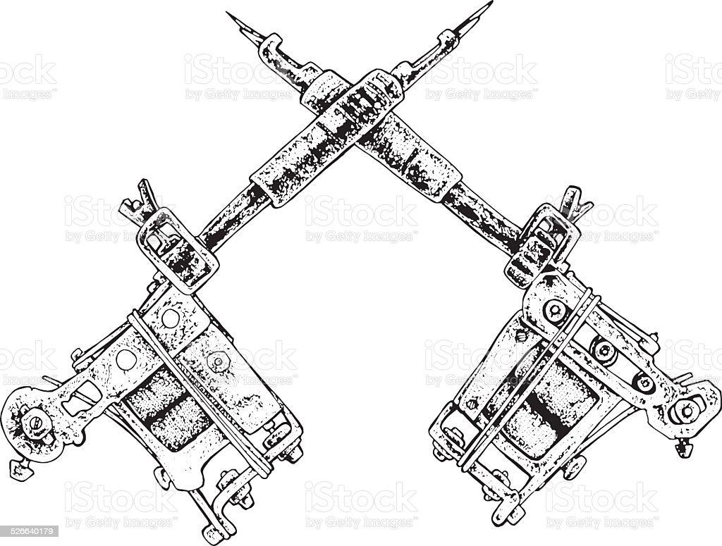 tattoo machines clip art, vector images & illustrations - istock
