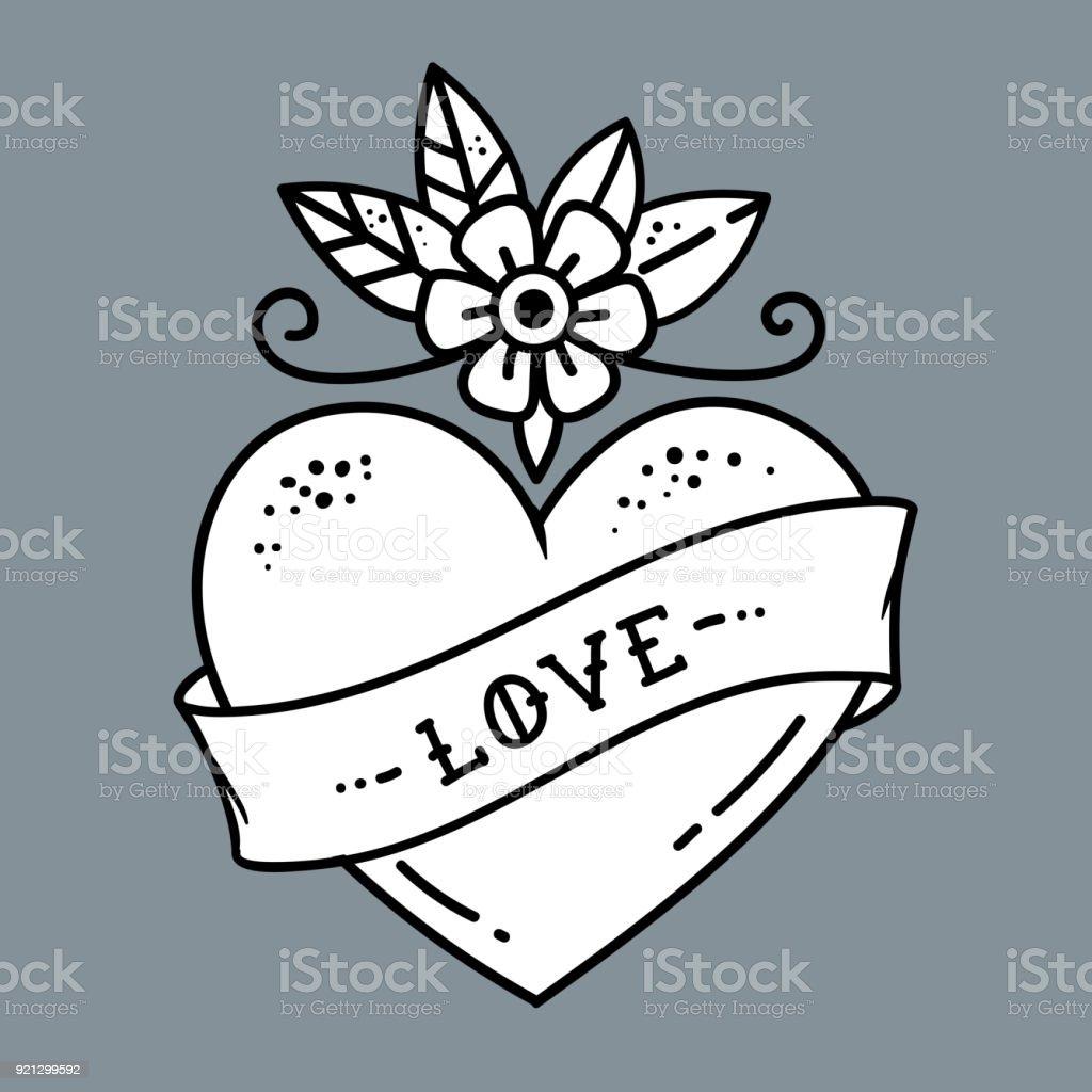 Blume der liebe tattoo