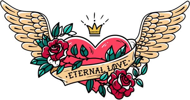 Heart tattoo stock illustrations