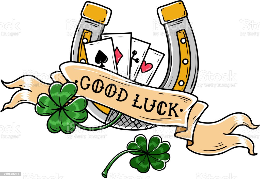 Tattoo horseshoe four leaf clover and playing cards good luck tattoo horseshoe four leaf clover and playing cards good luck tattoo old school biocorpaavc Choice Image
