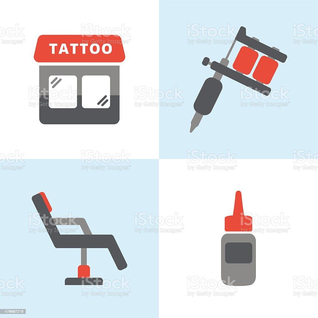 Tattoo Icons vector art illustration