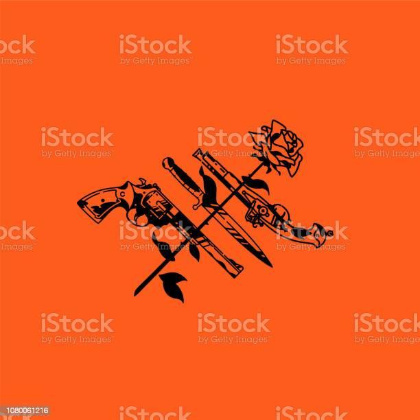 Tattoo illustration pistol knife and rose vector cold and firearms vector id1080061216?b=1&k=6&m=1080061216&s=612x612&h=i iv3ftewqmuszvczdfshktyifr7lz9o8g9gu8bxy8y=