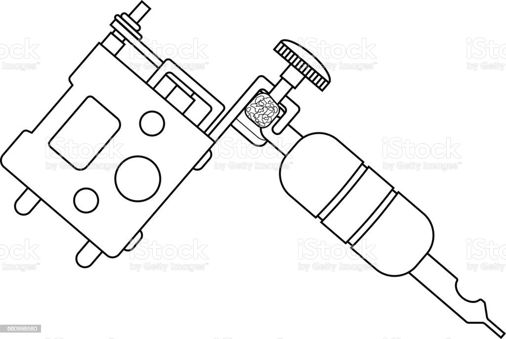 tattoo machine drawing stock vector art  u0026 more images of