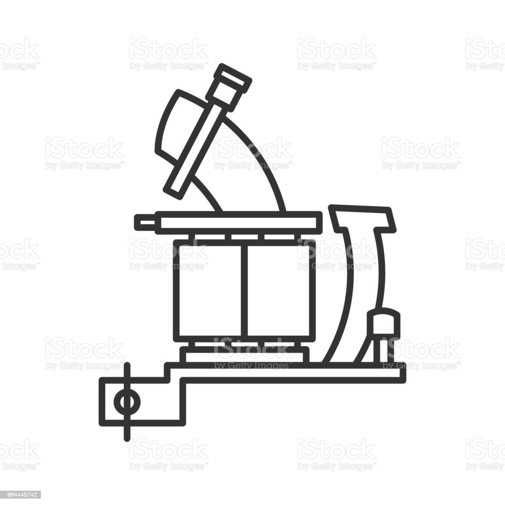 Tattoo Machine Frame With Coils Icon Stock Vector Art More Images Machines Diagram Pictures Royalty Free