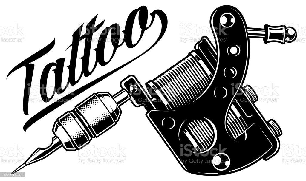 Tattoo Machine Monochrome Royalty Free Stock Vector Art Amp More