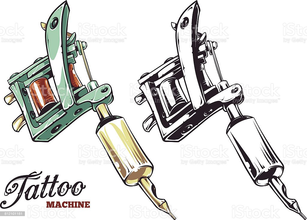 Tattoo Machine Vector Stock Vector Art & More Images of Art ...