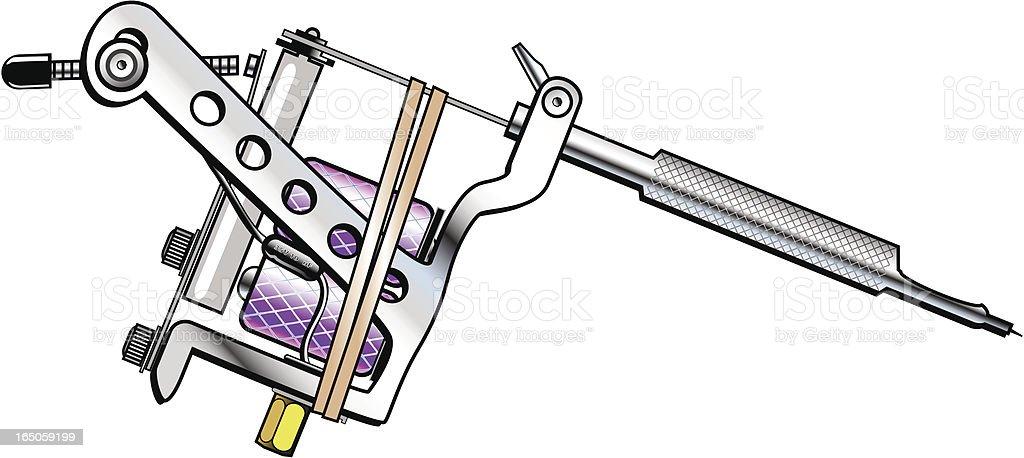 tattoomaschine mit kreis rahmen slot vektor illustration 165059199 istock. Black Bedroom Furniture Sets. Home Design Ideas