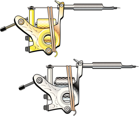Tattoo Machines in Gold and Silver