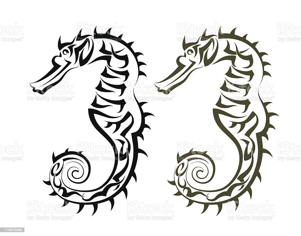 Tattoo Seahorse Stock Illustration Download Image Now Istock