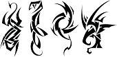 "Vector Illustration ""Tattoo set ( animals)"""