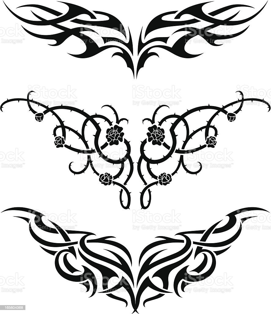 Tattoo Set royalty-free stock vector art