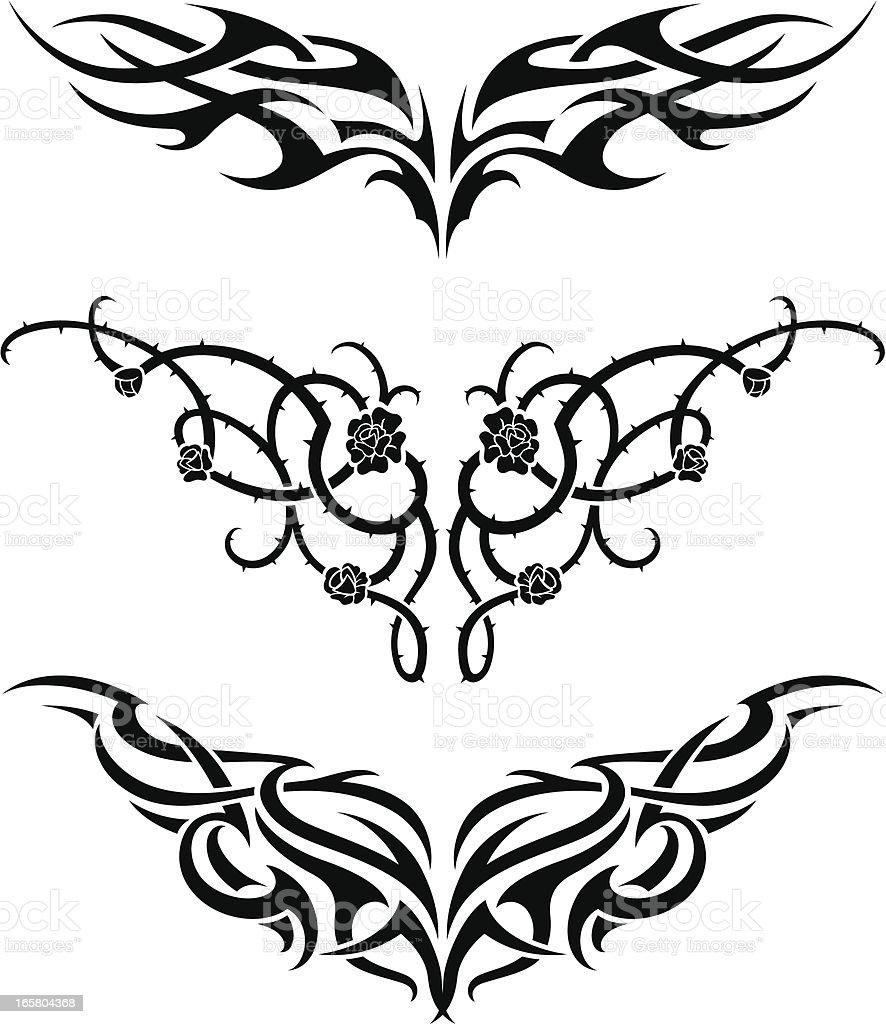 Conjunto de tatuagem - ilustração de arte em vetor