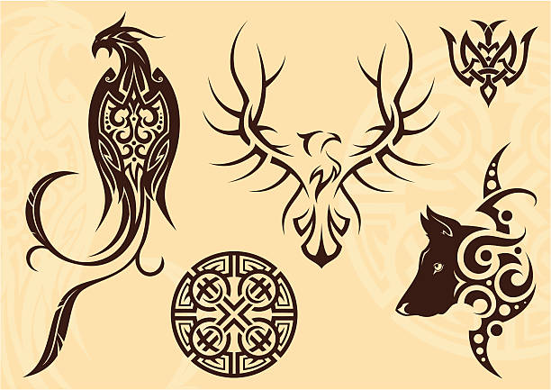 Tattoo-set – Vektorgrafik