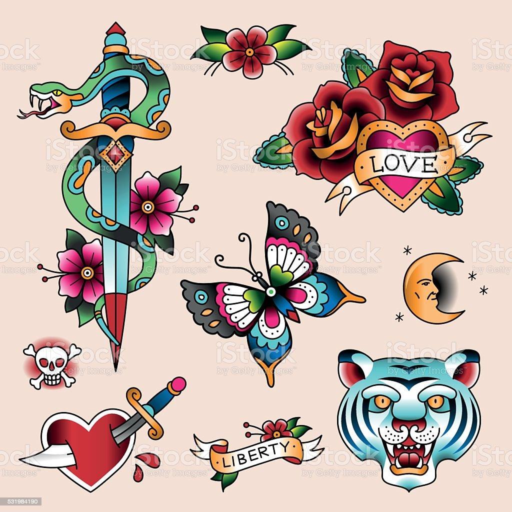 Tatuaje de - ilustración de arte vectorial