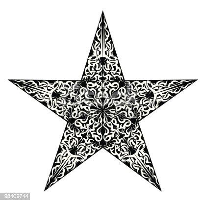 Tatuaggio Star - Immagini vettoriali stock e altre immagini di Arte tribale 98409744