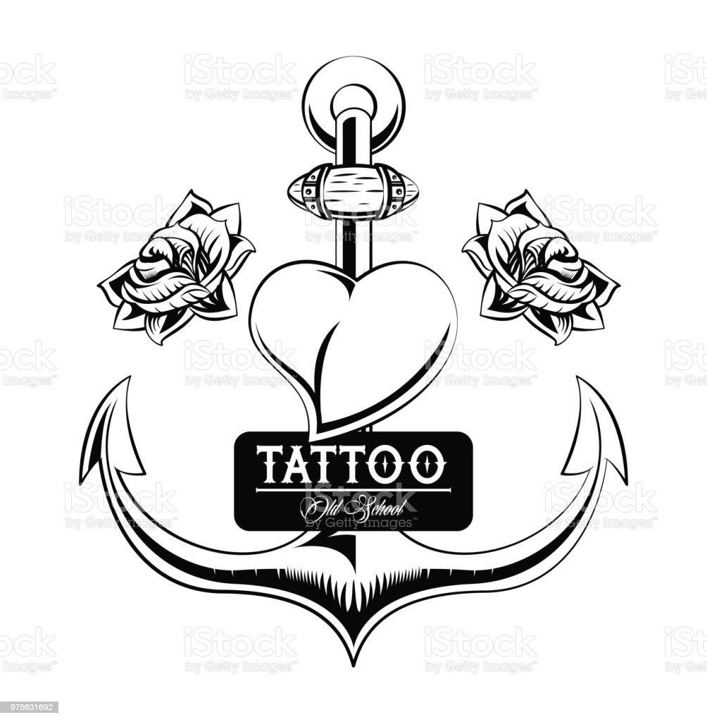 Ilustración De Diseño De Estudio De Tatuaje En Blanco Y Negro Y Más