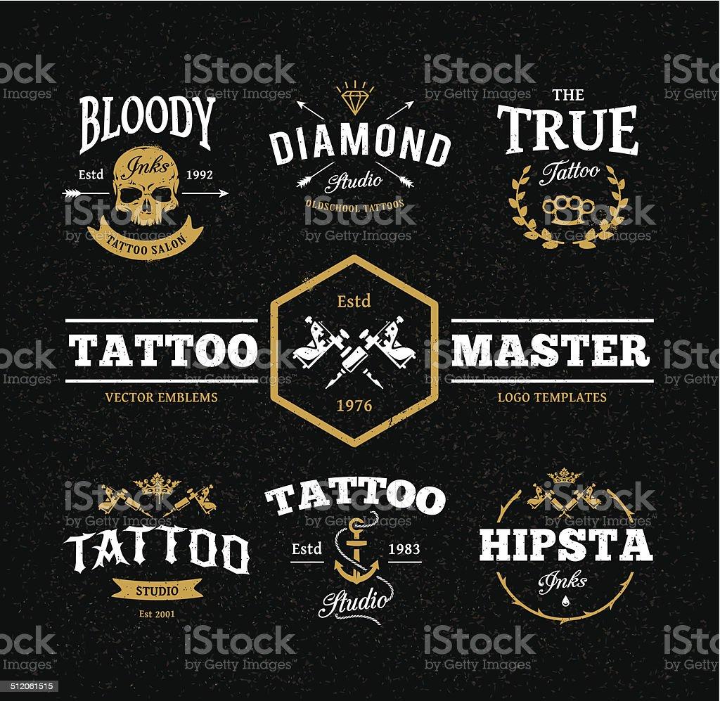 Tattoo Studio Embleme – Vektorgrafik