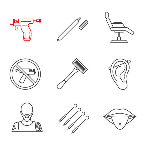 Pierced Illustrations, Royalty-Free Vector Graphics & Clip