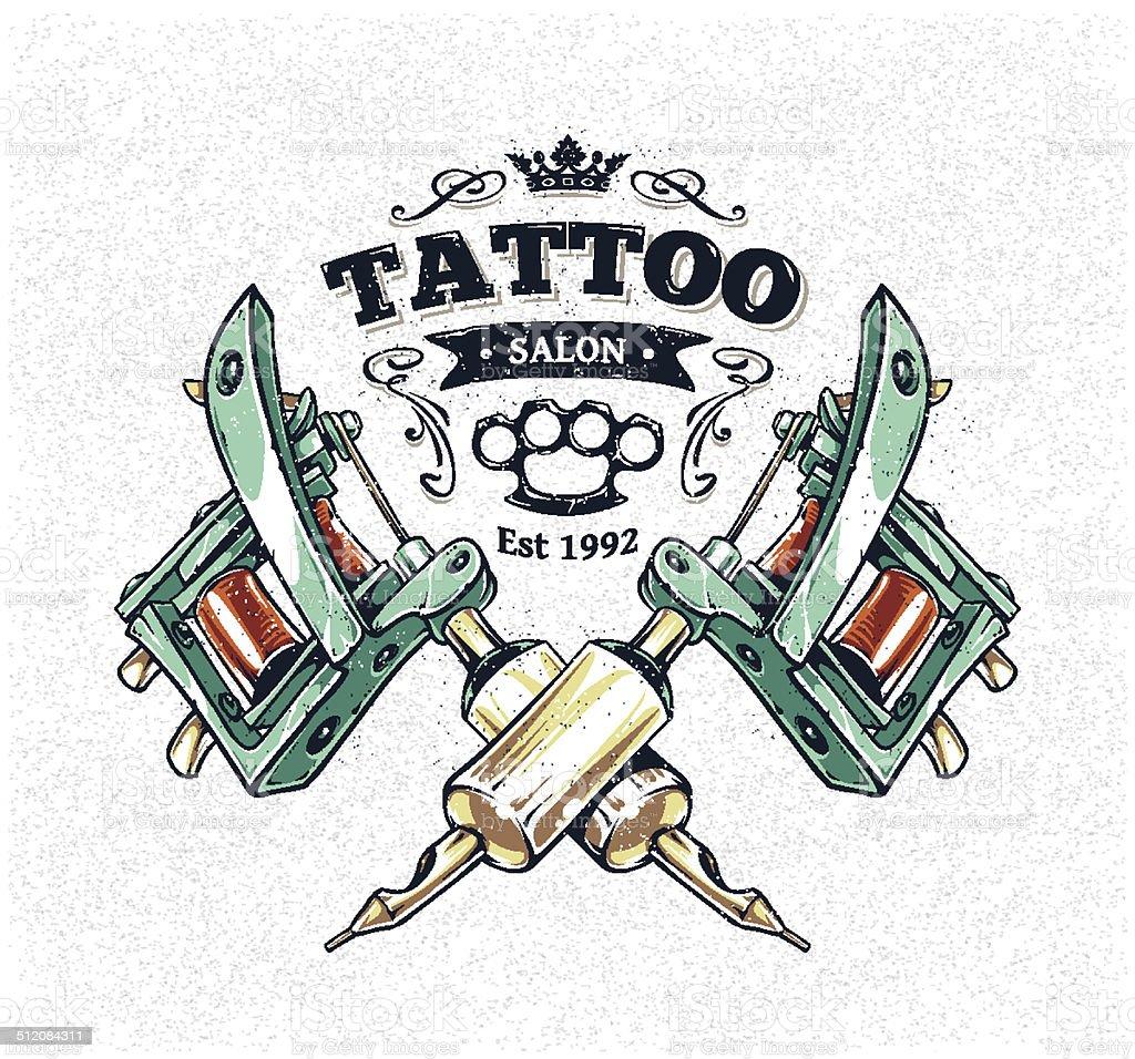 Tattoo Studio Poster vector art illustration