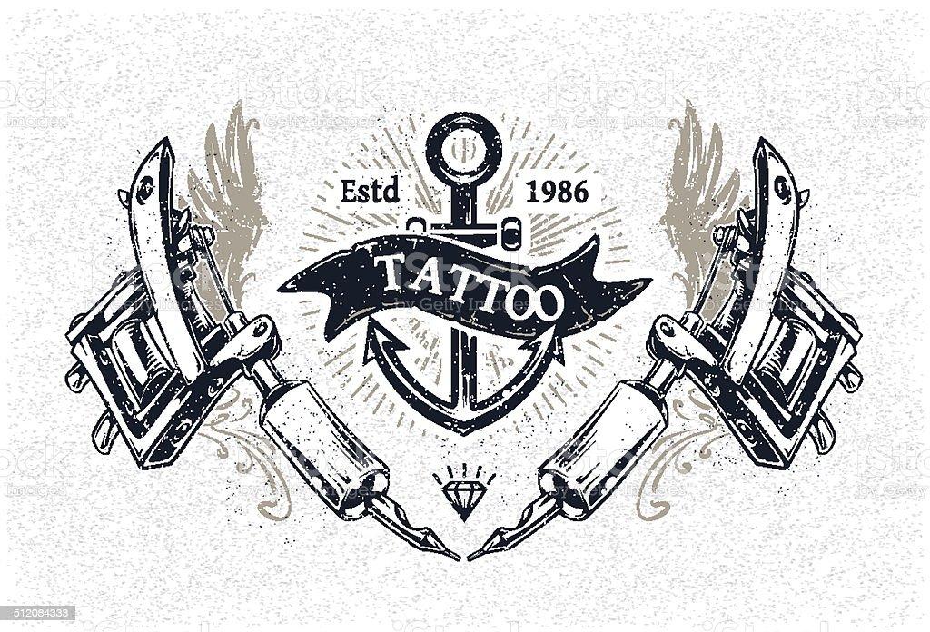 Tattoo Studio-Poster – Vektorgrafik