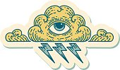 istock tattoo style sticker of an all seeing eye cloud 1208175152