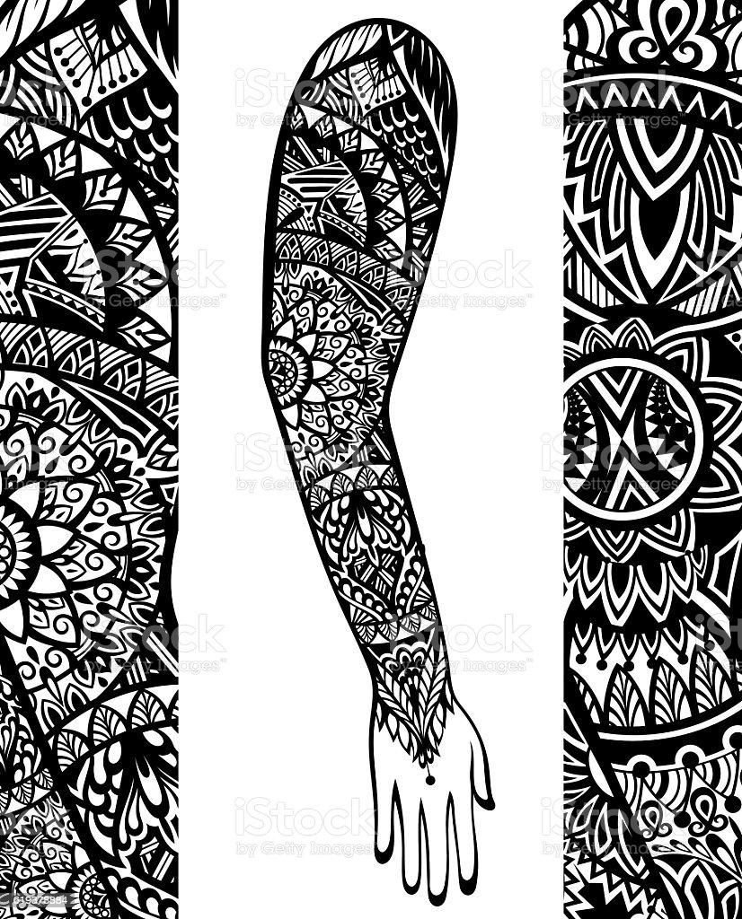 Tattoo style vector art illustration