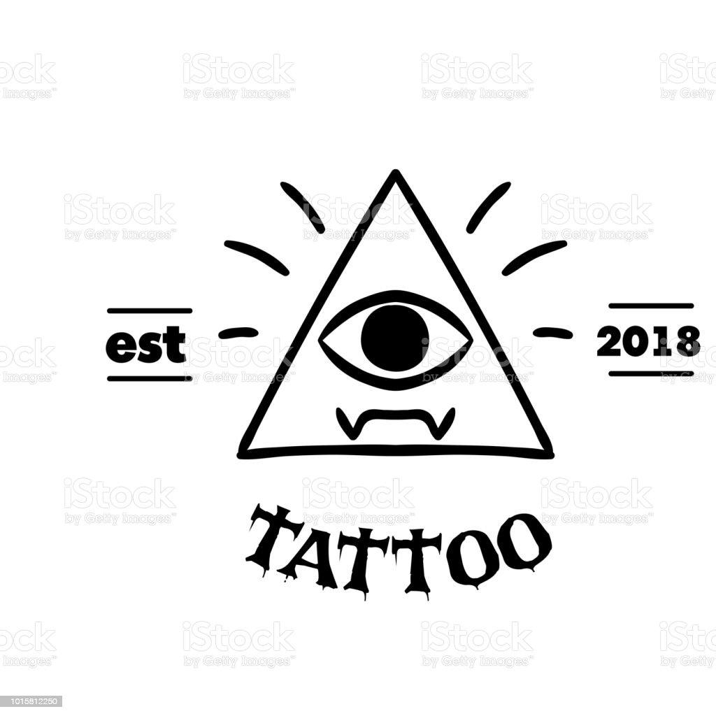 Tattoodreieck Rahmen Das Auge Vektor Hintergrundbild Stock Vektor ...