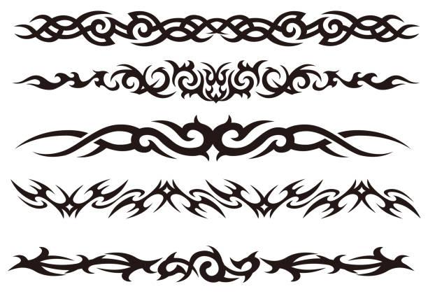 Tribal tattoo stock illustrations