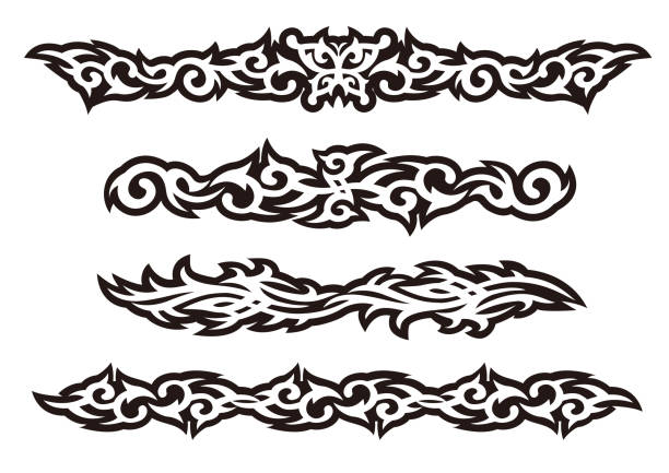 Tattoo tribal vektor-Design-Kunst-Set. – Vektorgrafik