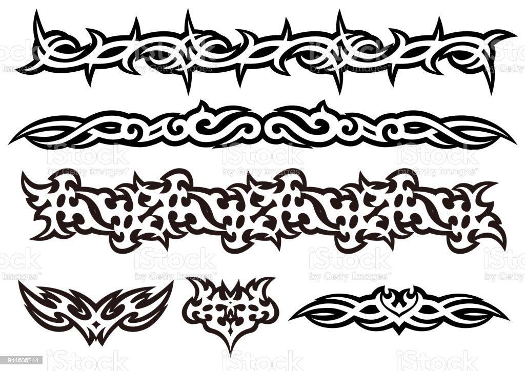 Tattoo Tribal Vector Design Art Set Stock Illustration Download Image Now