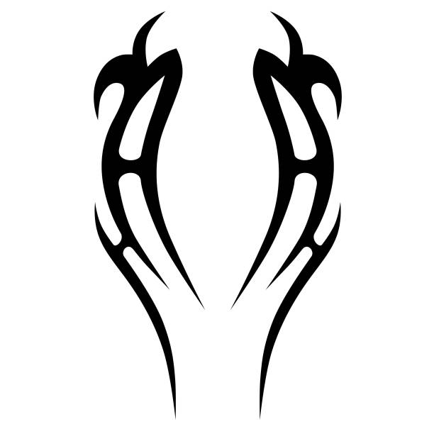 tattoo tribal vector design. simple tattoo tribal symbol. tattoo tribal design for men, woman and girl. abstract tattoo tribal pattern. - tribal tattoos stock illustrations, clip art, cartoons, & icons