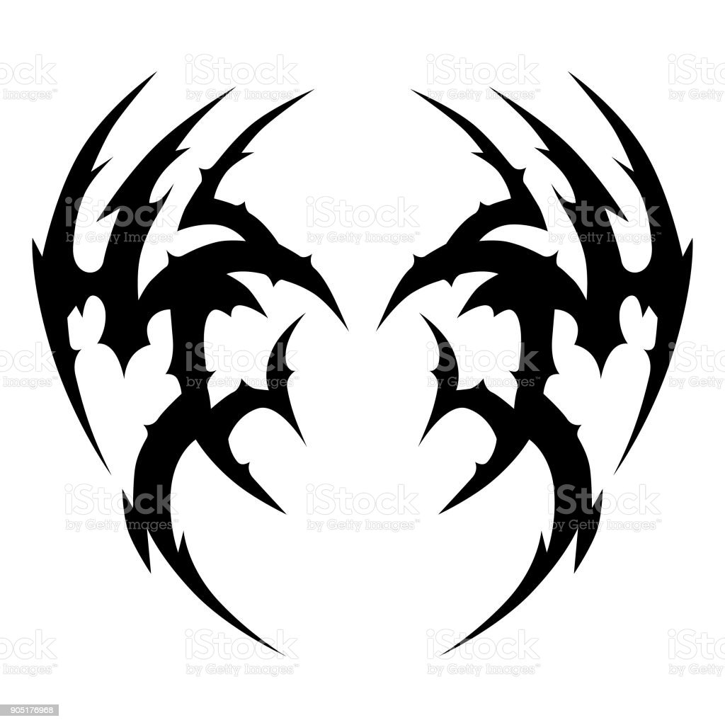 Tatouage Dessin Tribal Vecteur Symbole Tribal Tatouage Simple